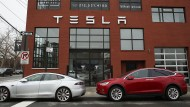 Tesla-Laden im New Yorker Stadtteil Brooklyn