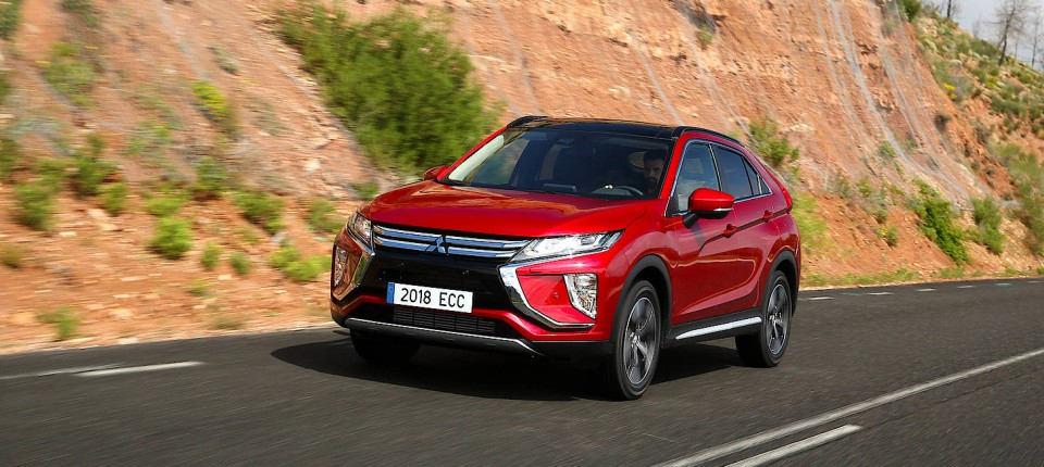 mitsubishi eclipse cross: suv in coupé-verpackung