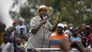 """Sieht in den Neuwahlen einen """"historischen Moment"""": Oppositionsführer Raila Odinga"""
