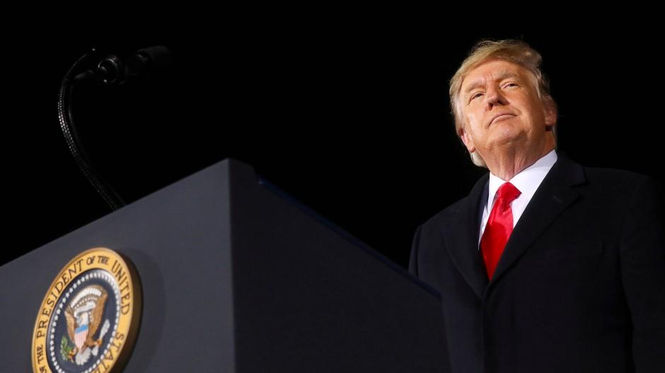 Damals noch Präsident: Donald Trump in Georgia