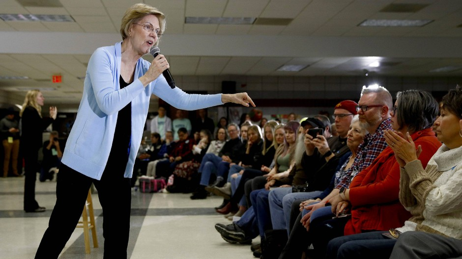 Elizabeth Warren am Montag in Grimes