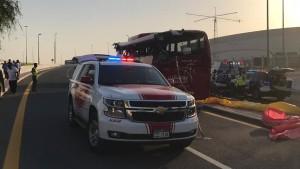 17 Tote bei schwerem Unfall mit Reisebus in Dubai