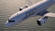 Steht ohne Triebwerke da: Der Airbus A320neo.