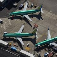 Boeing-Flugzeuge vom Typ 737 Max stehen auf dem Gelände des Konzerns in Renton.