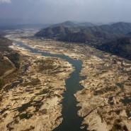 Das ausgetrocknete Flussbett des Mekongs in der Provinz Nong Khai in Thailand Anfang des Jahres 2020.