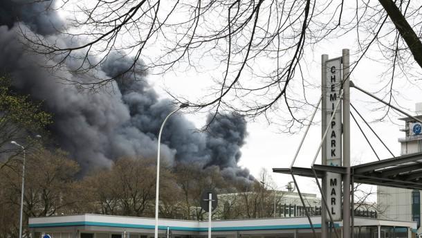 Chemiepark Marl von gewaltiger Explosion erschüttert