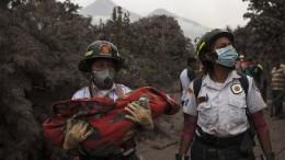 Viele Tote und große Verwüstung nach Vulkanausbruch