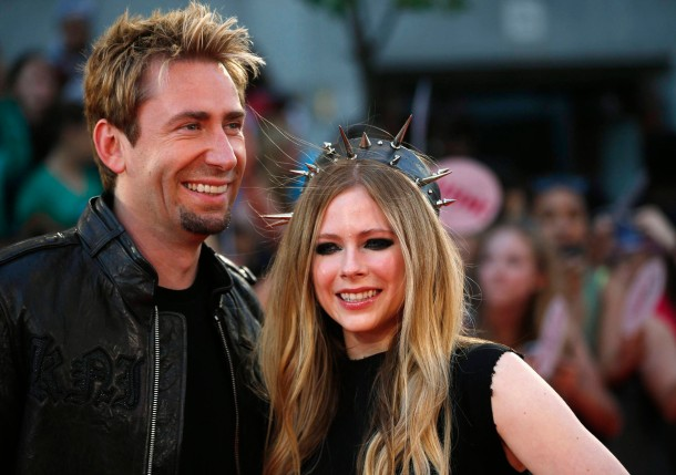 Singers Lavigne and Kroeger arrive on the red carpet for the MuchMusic Video Awards in Toronto