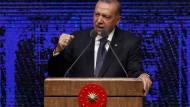 Erdogan vor einer Woche bei der Vorstellung seines 100-Tage-Plans