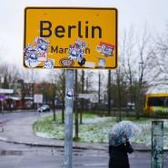 An der Grenze zwischen Berlin und Brandenburg im Stadtteil Marzahn