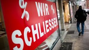 ZEW erwartet Anstieg von Pleiten kleinerer Firmen