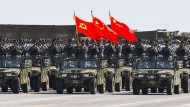 Chinesische Soldaten während einer Militärparade im Sommer 2017.