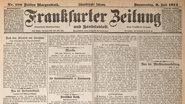 Historisches E-Paper: Frankfurter Zeitung 1914: 15. Juli 1914 - Der Erste Weltkrieg - FAZ