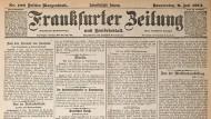Frankfurter Zeitung 1914: 15. Juli 1914