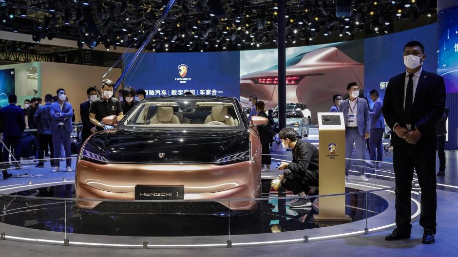 """Zukunftsgefährt: Hengchi hat noch kein Auto verkauft, das Modell """"Hengchi"""" soll aber Tesla-Rivale werden."""