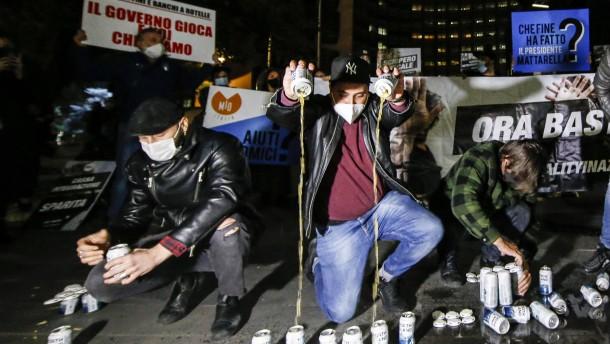 Proteste gegen Corona-Maßnahmen in Rom