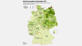 Kopie von Infografik / Arbeitslosenzahlen regional im Dezember 2011