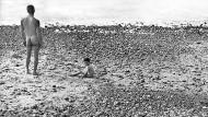 Ulysses am Strand, fotografiert von Agnès Varda, 1954