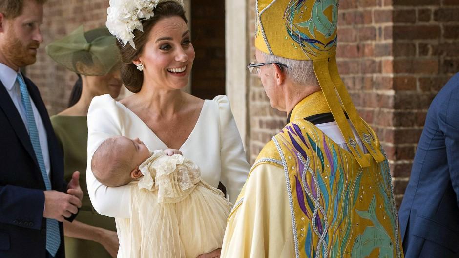 Royaler Täufling: In der britischen Königsfamilie werden alle Mitglieder getauft, hier Prinz Louis, jüngster Sohn von Prinz William und Herzogin Kate im Jahr 2018.