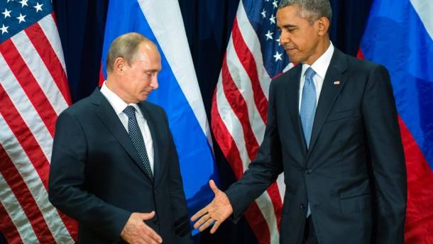 Obama und Putin planen Verhandlungen über Waffenruhe