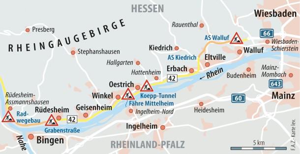 Umbau An B 42 Rheingau Furchtet Verkehrsinfarkt