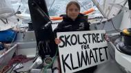 """Greta Thunberg reist mit der Segelyacht """"Malizia"""" nach New York."""