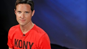 "Jason Russell, co-founder of non-profit Invisible Children and director of ""Kony 2012"" viral video campaign, poses in New York"