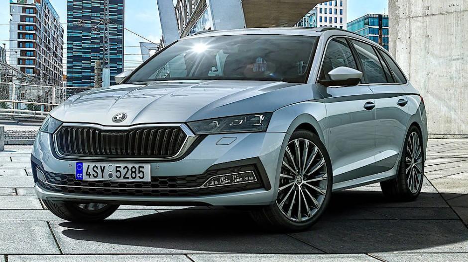 Der neue Škoda Octavia auf einem Pressefoto des Unternehmens