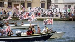 Streit um Kreuzfahrtschiffe in Venedigs Lagune