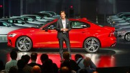 """""""Es gibt keinen Grund, warum man mit einem Volvo schneller als 180 Stundenkilometer fahren sollte"""", sagt Volvo-Chef Hakan Samuelsson."""