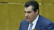 Der russische Duma-Abgeordnete Leonid Sluzki 2014 in Moskau