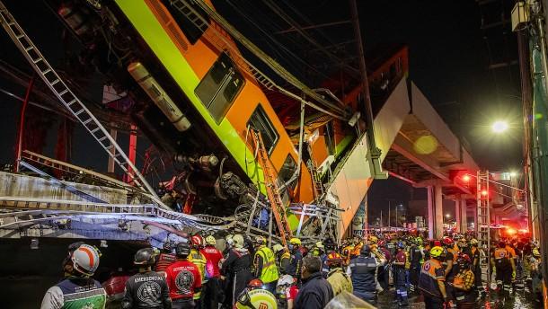 Ermittler machen Baufehler für U-Bahn-Unglück in Mexiko verantwortlich