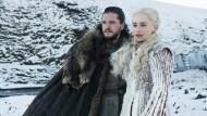 Kampf um den Thron: Die Figuren Jon Schnee (l.) und Daenerys Targaryen