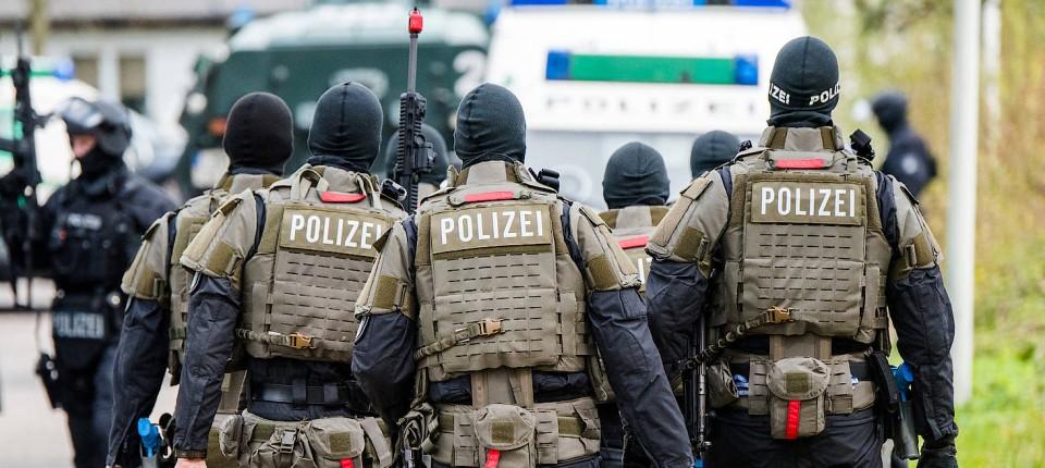 Im Einsatz gegen den Terror: Polizisten bei einer Übung 2017 in Hamburg
