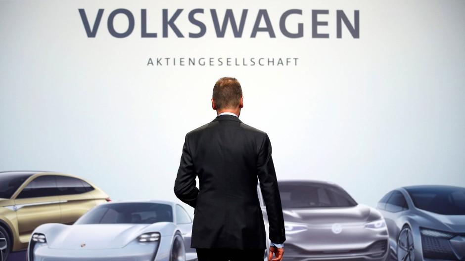 VW-Chef Herbert Diess im Mai in Berlin.