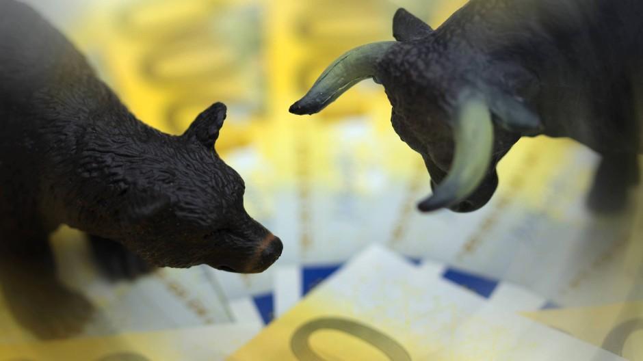 Symbole am Aktienmarkt: Bär und Bulle