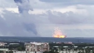 Gewaltige Explosion in russischem Munitionslager