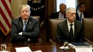 Keine Freunde fürs Leben: Trump und Mattis gemeinsam am Kabinettstisch