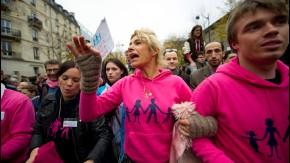 Manifestation contre le Mariage pour tous - gay - et l'Adoption d'enfants par les Homosexuels