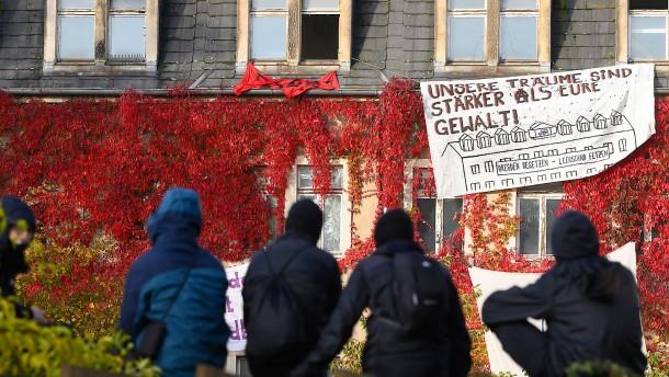 Polizei beendet Hausbesetzung in Dresden