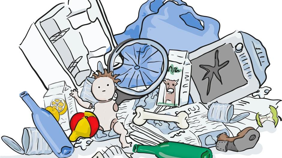 Überreste des Alltäglichen: Immer mehr Müll verstopft unsere Innenstäfte.