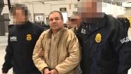 """""""El Chapo"""" bei seiner Auslieferung nach Amerika im Januar."""