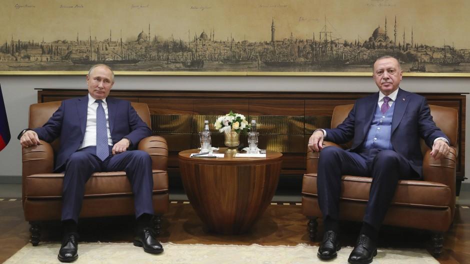 Verbündete und Widersacher: Putin und Erdogan am 8. Januar in Istanbul