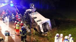 Schwerer Busunfall bei Barnsbüttel