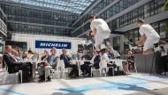 Hoch hinaus: Michelin will mit der Eröffnung seiner Büros am Flughafen durchstarten.