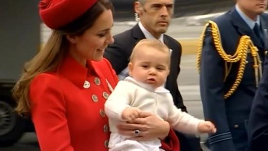 Baby-Prinz auf Reisen