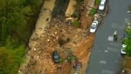 Straße in Maryland eingestürzt