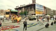 Aufräumen auf dem Maidan