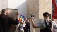 Demonstration nach Anschlag auf Synagoge