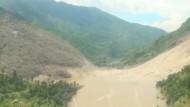 Schlamm-Damm bedroht Region in Nepal